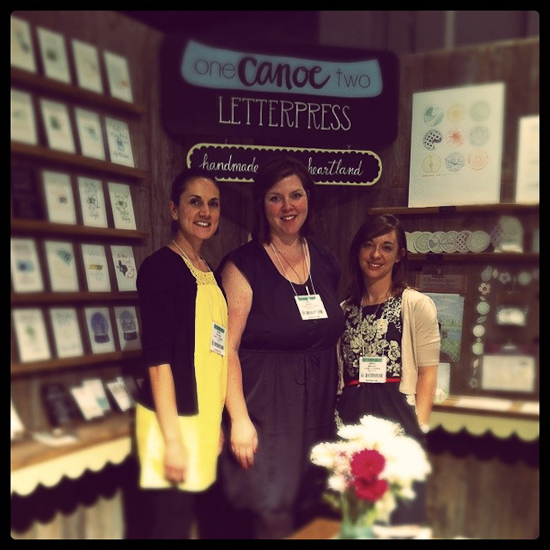 Canoe Lettepress Booth, National Stationery Show