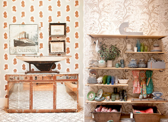 Anthropologie Retail Shelves and Display | Photo by Michelle Smith of Gather Goods Co