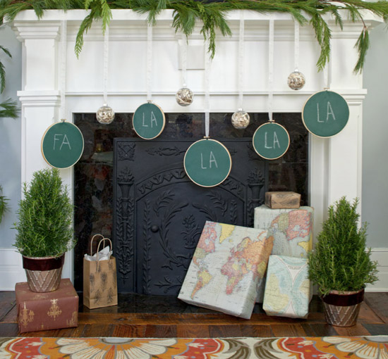 Christmas Mantle Decorating Idea