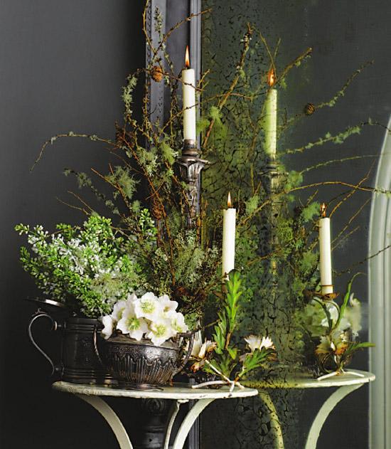 Flowers on Table Vignette