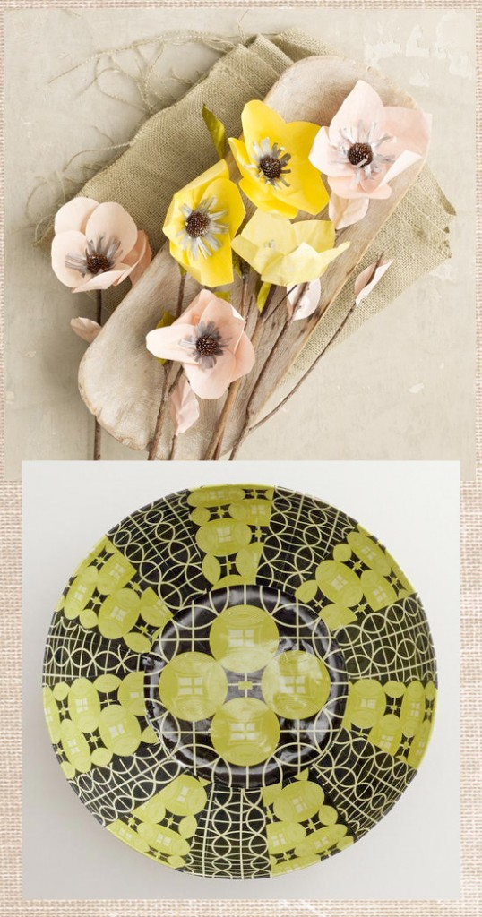 Surface Pattern, Merchandising & Design Trends Spring 2013 - Retro yellow Botanicals