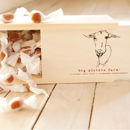 Big Picture Farm Caramels Wooden Gift Box