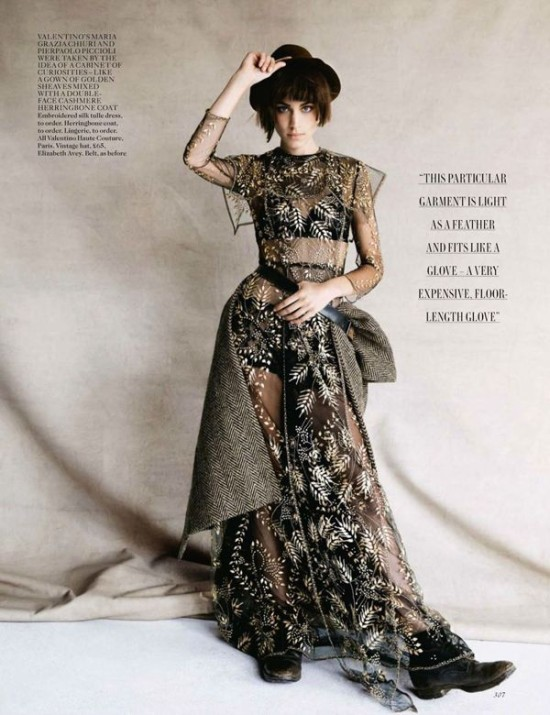 Patrick Demarchelier Photographs Alexa Chung in Couture for British Vogue