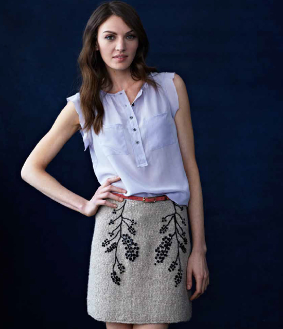 Knit Skirt from More Top Down Knitting Book via michelle-s.com