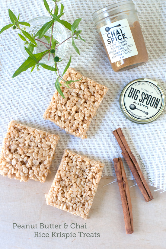 Peanut Butter Chai Spiced Rice Krispy Treats Recipe I Photo by Michelle Smith