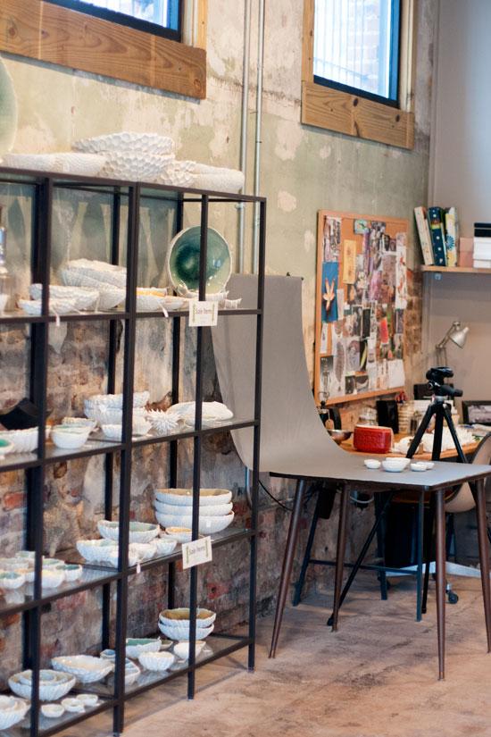 Studio Tour, Element Ceramics, Asheville, NC - Photo by Michelle Smith