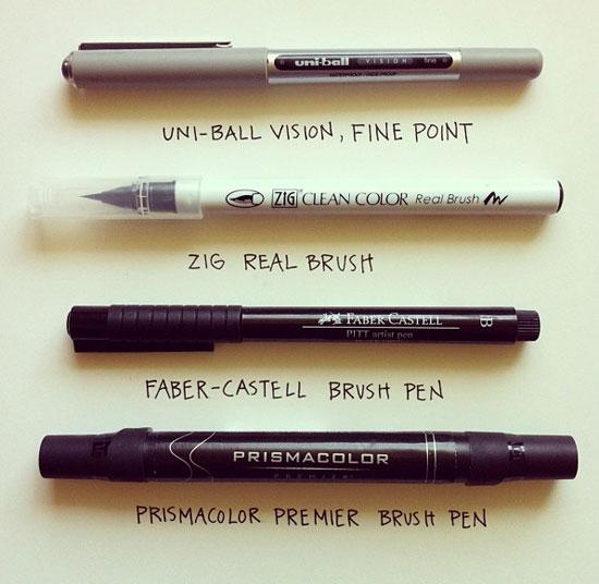 Artist Pen Recommendations