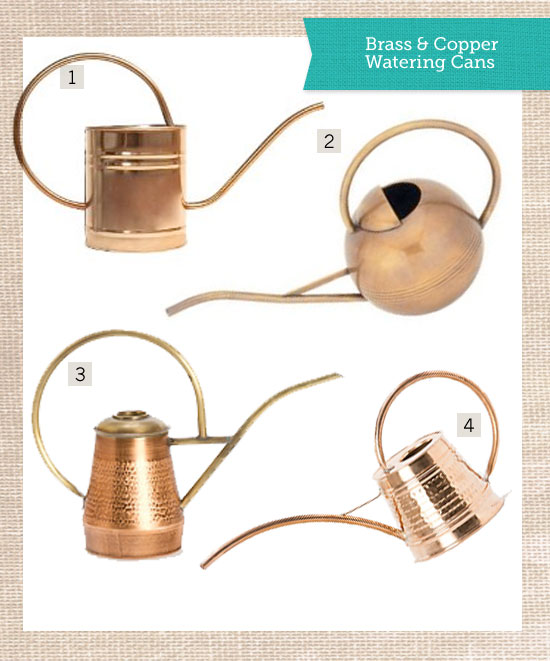 Copper & Brass Watering Cans