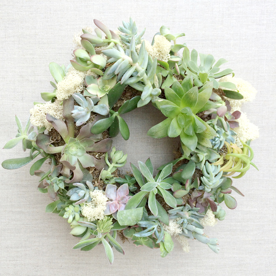 DIY Succulent Wreath Class at Gather in Cary, North Carolina