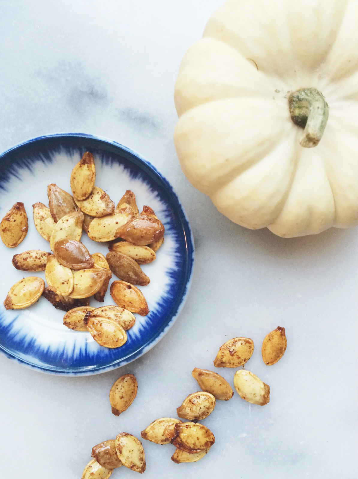 Skillet Roasted Sweet & Spicy Pumpkin Seeds