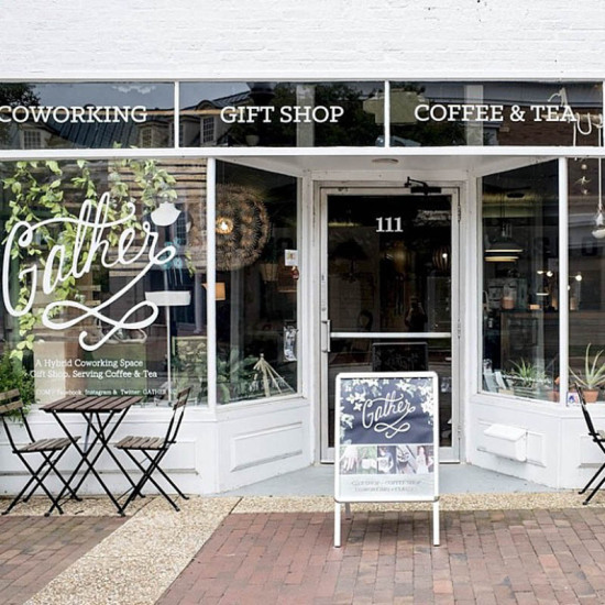 Store front in Raleigh area, Gather in Cary, North Carolina