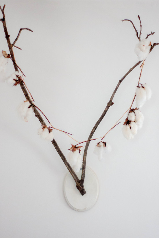 Branch Antlers with Strung Cotton Garland