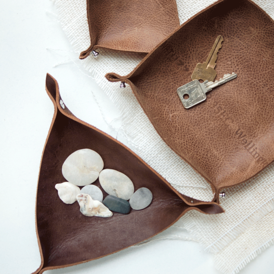 DIY Leather Trays