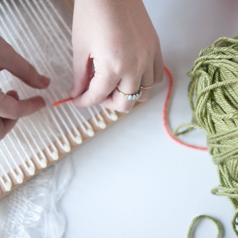 Weaving Class at Gather in Raleigh
