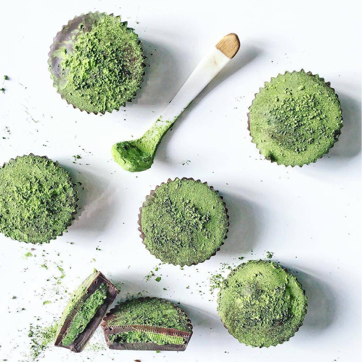 Matcha Tea and Coconut Cups
