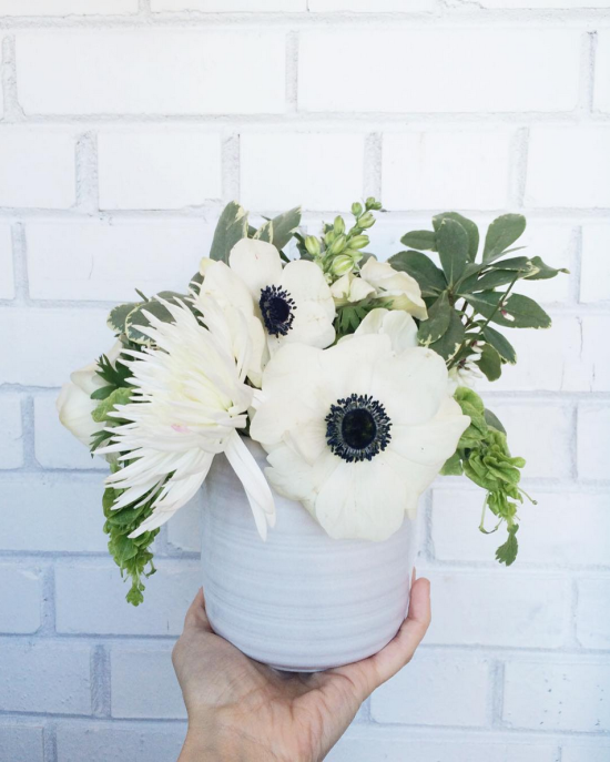 White Floral Arrangement with Anemones | Gather Goods