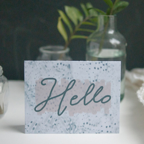Hello Greeting Card | By Designer Michelle Smith of Gather Goods
