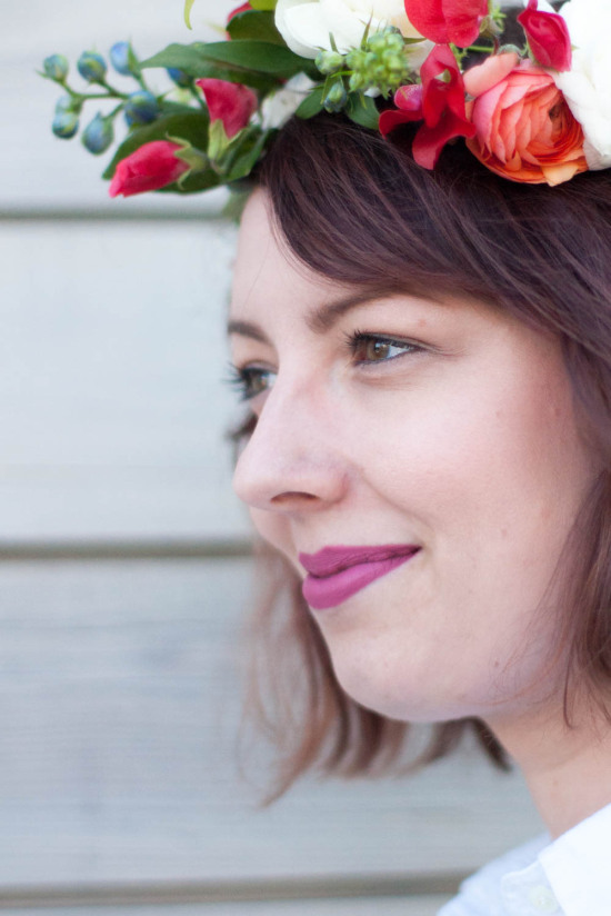 How To Make A Flower Crown Workshop at Gather Goods Co in Raleigh, North Carolina