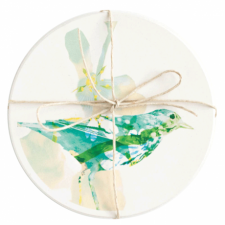 Ceramic Bird Coaster, Set of 2