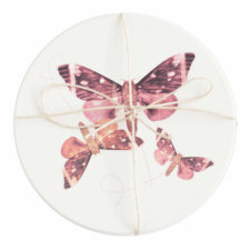 Ceramic Moth Coaster, Set of 2
