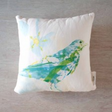 Blooming Bird Pillow Cover