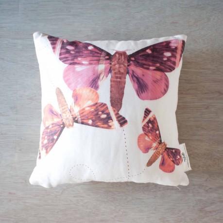 Fluttering Moths Pillow Cover